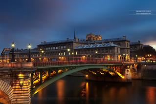 Pont Notre-Dame, Hotel Dieu & Cathédrale Notre-Dame, Paris