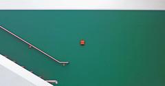 Self-Control (TablinumCarlson) Tags: vogelsang ordensburg leica dlux 6 eifel urfttalsperre erpenscheid schleidengemnd nordrheinwestfalen nrw deutschland germany europa europe besucherzentrum national park north rhinewestphalia watertower wasserturm visitor centre nationalpark schule school feuer fire brandschutz steps stairs staircase treppe minimalism minimalismus grn green selfcontrol visitorcentre