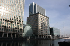 Buildings of Canary Wharf (lazy south's travels) Tags: london england britain uk capital city finance financial district river side riverside