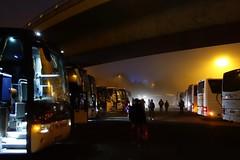 Parkeerplaats / Keulen (rob4xs) Tags: keulen kln klle cologne duitsland deutschland germany misty mistig mist parkeerplaats parkplatz bus touringcar