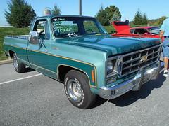 1977 Chevy C-10 Silverado (splattergraphics) Tags: 1977 chevy c10 silverado pickup truck fleetside carshow aacaeasterndivisionfallmeet aaca antiqueautomobileclubofamerica hersheypa