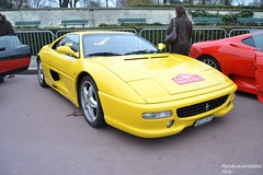 Ferrari F355 Berlinetta (Monde-Auto Passion Photos) Tags: auto automobile ferrari f355 berlinetta jaune coup france rally paris evenement supercar sportive