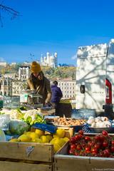 Market seller (Maestr!0_0!) Tags: rue street marche market vendeuse lyon candid people fuji xpro seller