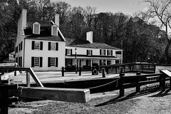 Great Falls Tavern Visitor Center - C&O Canal National Park - Great Falls MD (mbell1975) Tags: potomac maryland unitedstates us great falls tavern visitor center co canal national park md bw parc greatfalls chesapeake ohio chesapeakeandohiocanal visitors visitorcenter bar canallock lock locks usa american america