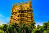 Gopuram of Nallur Kovil (kumherath) Tags: nallurkovil jaffna srilanka gopuram blue green hindu canon5dmark3 architecture architectural is usm ef100400mmf4556lisusm