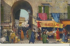Nice France early 1900's. Une vielle rue. (Bennydorm) Tags: marche markt mercado market nice france vielle rue street old people 1900s gens menschen persone gente calle strada alte vecchio 20thcentury postcard cartepostale europe