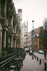 (Tom Cadrin) Tags: old cambridge england film architecture tom 35mm canon buildings photography 50mm town spring ancient quiet peace fuji films 4 grain bikes adobe april lightroom histroy t4i vsco cadrin