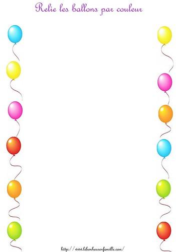AAAAAAAAAAAAAAAAAfiche relie les ballons par couleur