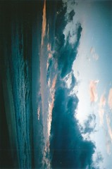 Don't try to find me (Rob Aparicio) Tags: sunset sea sky storm film beach clouds analog atardecer mar spain playa olympus shore nubes tormenta marbella orilla olympusom20 tumblr robaparicio robaparicioflickr