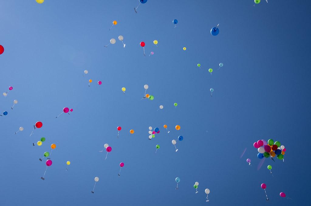 Bechtle Luftballonaktion