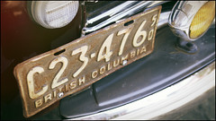 C23-476, rusted. (Eric Flexyourhead (YVR catch-up mode!)) Tags: old city urban canada detail vancouver truck vintage bc britishcolumbia rusty plate number american rusted license strathcona 169 1950 fragment panaleica25mmf14 heatleyavenue leicadgsummilux25mmf14asph olympusem5