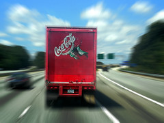 I flew through Atlanta (Brian Just Got Back From...) Tags: atlanta motion blur movement zoom action cocacola cocacolatruck