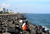 Goubert Avenue Seaface, at Pondicherry (ilovethirdplanet) Tags: india rocks pondicherry seaface ind puducherry