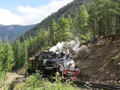 Georgetown, Colorado 083 (Patricia Henschen) Tags: railroad railway steam locomotive tender georgetownloop excursion narrowgauge steamlocomotive devilsgate coalcar georgetowncolorado georgetownlooprailroad railroadequipment guanellapassscenicbyway westsidelumberco