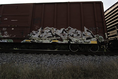 Mesko (Revise_D) Tags: railroad art graffiti revise graff tagging freight revised trainart fr8 benching lert mesko meskoe fr8heaven fr8aholics revisedesigns revisedeigns revisedesign fr8bench