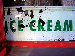 Ice Cream (See El Photo) Tags: california ca red 15fav favorite white signs color colour green window sign cali digital word outside outdoors nikon colorful peeling colore noho icecream signage letter fav peel cip couleur cracked faved northhollywood e3200 cipped