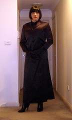 Nights In Black Satin (1) (Furre Ausse) Tags: black leather long boots skirt blouse jacket gloves satin length blazer