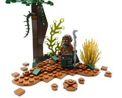 Day 16: Werewolf shaman (Magma guy) Tags: werewolf wolf lego were minifig custom shaman purist