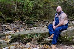 Bear Hike-4x6-T-3712 (Mike WMB) Tags: bear beard boots bald hike overalls