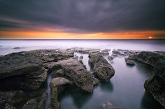 The Gap (eggysayoga) Tags: longexposure sunset bali seascape storm beach night indonesia landscape nikon tripod ss wide hard tokina le 09 nd slowshutter pro alta stacking filters pantai holder vanguard graduated lightroom waterscape averaging uwa gnd intervalometer tabanan melasti leefilter 1116mm imageaveraging d7000