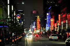 Vancouver at Night (Surrealplaces) Tags: canada night vancouver downtown granville