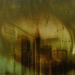 ...tired of waiting... (xandram) Tags: city urban clock photoshop textures hartfordct