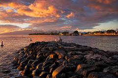 Fishing At Sunset (mojo2u) Tags: sunset hawaii harbor maui lahaina breakwater lahainaharbor nikon28300 nikond800