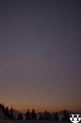 Comet ISON C/2012 S1 & Leonid Shooting Star - Dobratsch/Villach/Carinthia/Austria