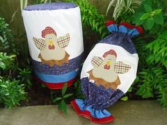 PUXA SACO E CAPA DE GALO DE GUA GALINHA COUNTRY! (Lucimar Lima) Tags: gua de galinha country capa e patchwork saco galo puxa