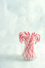 It's Beginning To Look A Lot Like Christmas (Ruthie H) Tags: christmas red stilllife white texture festive candy traditional canes jar sweets tabletop flypaper