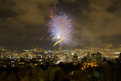 Firework Show (agma06) Tags: christmas trees cloud color night colombia fireworks medellin eltesoro pólvora