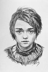 Arya Stark (Game of Thrones) (ServaneO) Tags: portrait game pencil drawing dessin arya crayon stark thrones