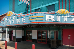 Ritz Theatre (1942), view 02, 126 W Liberty Ave, Covington, TN (1826, pop. 9,063), USA (lumierefl) Tags: usa cinema building architecture marquee theater neon unitedstates tn theatre tennessee business entertainment 1940s commercial northamerica movies artdeco southeast 20thcentury movietheater covington motionpicture moviehouse exhibitor tiptoncounty pictureshow
