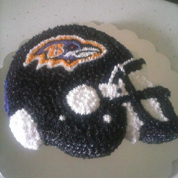 Ravens Helmet Cake