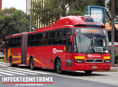 Volvo BRT 7300 Metrobus (infecktedbusgarage) Tags: bus mexico volvo camion autobus ciudaddemexico brt metrobus rtp busrapidtransit articulado mexicanbus 7300brt volvo7300 grupometropolitanodetransporte reddetransportedepasajerosdeldf