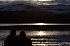 Together in Winter (shannonsimms) Tags: winter sunset sea people mountain lake snow water scotland highlands scenery couple view scenic romance together loch