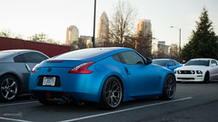 DSC_0029 ([Mixtography]) Tags: morning blue winter cars coffee car sunrise 35mm photography early nc nikon nissan charlotte parking north lot wrap diner cc exotic carolina satin luxury meet matte supercars matties 370z carsandcoffee d3100 czarnocki mixtography