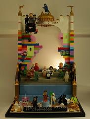The LEGO MOVIE : shop display (Legoagogo) Tags: game superman batman chichester wildside unikitty legoagogo thelegomovie cloudcuckoopalace
