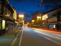 Speeding cars in Hida Takayama (wanderer_photographer) Tags: street city nightphotography sky cars japan night lights town ngc streetphotography voiture bluehour nuit japon ville hidatakayama photodenuit photographiederue lumieres