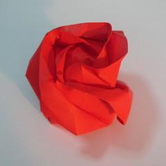 วิธีพับกระดาษพับดอกกุหลาบ 054