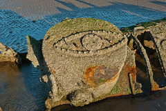 x-craft wreck (Sandy Beach Cat) Tags: uk sea sky beach outdoors scotland submarine ww2 wreck defence defences weapons worldwar2 lothian eastlothian aberlady xcraft k10d pentaxk10d