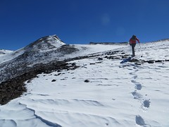 Heading for Bonete's summit pyramid