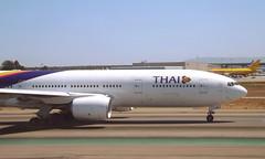 HS-TJS (sjevazz) Tags: plane la fan los airport engine 7 rr terminal international trent seven thai boeing lax airways airlines 777 triple royce spotting angelos 772 b777 777200 klax b772 rolceroyce b777200 hstjs rolce