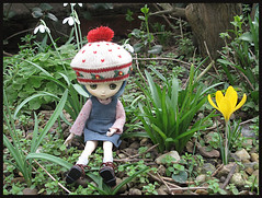 Signs of Spring (pacific_rin) Tags: doll crocus snowdrops brenda jerryberry petsoundspenny