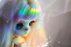 Baby prisma (guilherme purin) Tags: iris white art hair toy rainbow doll prism linnea blythe limited takara exclusive prisma cwc middie toyart