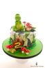 Dinosaur Cake (Little Cottage Cupcakes) Tags: birthday boy cake dinosaur toadstool trex fondant dinosaurcake sugarpaste 2ndbirthdaycake trexdinosaur littlecottagecupcakes