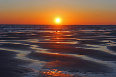 Solstice Sunset (John Ibbotson (catching up!)) Tags: sunset sea sun beach water wales coast seaside sand ceredigion borth