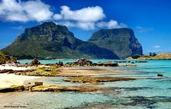 Mt Lidgbird & Mt Gower From Lord Howe Island Wharf, NSW (Black Diamond Images) Tags: coral clouds island paradise australia wharf nsw lordhoweisland worldheritagearea mtgower wharfprecinct mtlidgbird thelastparadise blackburnisland