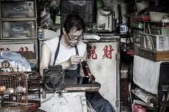 handcraft (pcoin) Tags: old city hongkong focus traditional master mongkok handcraft concentrate