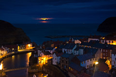 Staithes aglow. (paul downing) Tags: pauldowning pd1001 pauldowningphotography nikon d7200 supermoon staithes northyorkshire northyorkshiremoors northsea autumn nightshot hitech gnd 12 filters